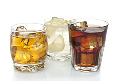 Three cocktails. Three refreshing alcoholic and non-alcoholic cocktails Stock Photo