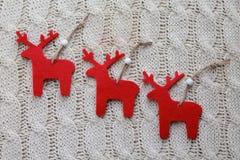 Three reindeer Royalty Free Stock Photo