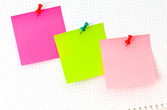 Three reminder notes Royalty Free Stock Image