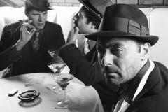 Three retro businessmen. royalty free stock photos