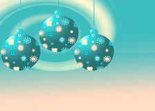 Three retro Christmas ornaments royalty free illustration