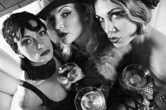 Three retro females. stock images