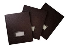 Three retro folders Royalty Free Stock Images