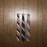 Three retro ties Stock Photography