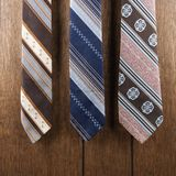 Three retro ties. Stock Photos