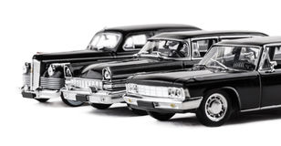 Three retro toy cars Royalty Free Stock Images