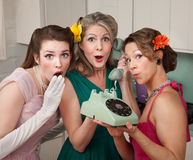 Three Retro Women Royalty Free Stock Photo