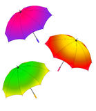 Three revealled umbrella Royalty Free Stock Image