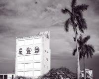 Three Revolutionaries in Old Havana, Cuba stock photography
