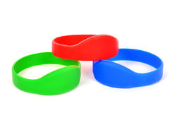 Three rfid bracelet Stock Photo