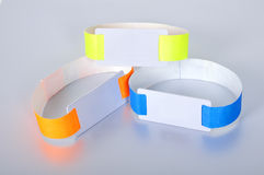 Three rfid id bracelet Royalty Free Stock Image
