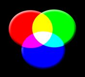 Three rgb buttons. With individual bevels blended Royalty Free Stock Image
