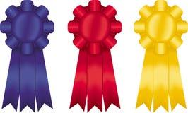 Three Ribbons. Three colored ribbons Royalty Free Stock Photos