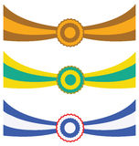 Three ribbons. Three colorful ribbons illustration on white background Stock Images