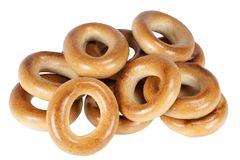 Three rich bagels Stock Photography