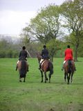 Three Riders. Three hunt riders Royalty Free Stock Photography