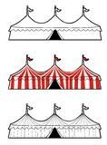 Three ring circus tent Royalty Free Stock Images