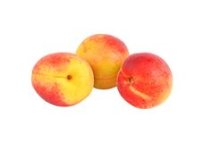 Three ripe apricot Stock Image