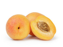 Three ripe apricots Royalty Free Stock Photo