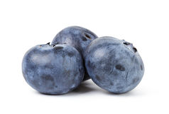 Three ripe blueberries Royalty Free Stock Photography