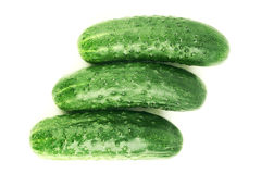 Isolated cucumbers Royalty Free Stock Photos