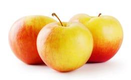 Three ripe juicy apple Stock Photography