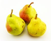 Three ripe and juicy pears Stock Photography