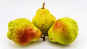 Three ripe and juicy pears. Royalty Free Stock Photography