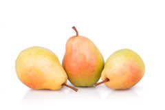 Three ripe juicy pears Royalty Free Stock Images
