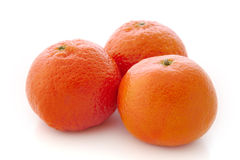 Three ripe mandarines Royalty Free Stock Photos