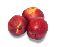 Three ripe nectarine  Royalty Free Stock Photos
