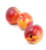 Three ripe nectarines Royalty Free Stock Images