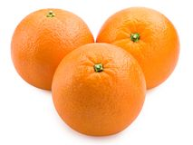 Three ripe orange Royalty Free Stock Photo