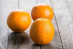 Three ripe oranges Stock Image