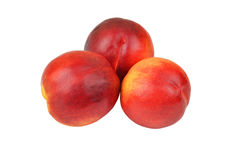 Three ripe peach Stock Image