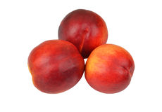 Three ripe peach Stock Photo