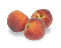 Three ripe peach  Stock Photography
