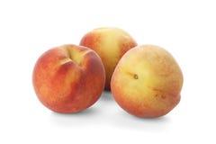Three ripe peach Stock Images