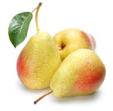 Three ripe pears. Royalty Free Stock Image