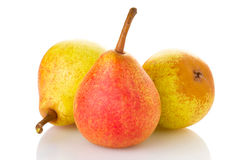 Three ripe pears Royalty Free Stock Photos