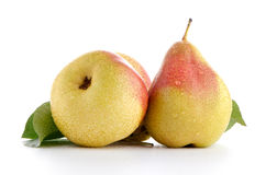 Three ripe pears Stock Images