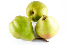 Three ripe pears isolated on white background Royalty Free Stock Photos