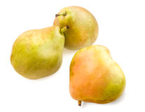 Three ripe pears isolated on white. Royalty Free Stock Photo