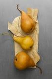 Three ripe pears Royalty Free Stock Photography