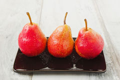 Three ripe  pears Stock Photography