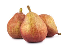 Three ripe pears Royalty Free Stock Photography