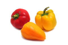 Three ripe peppers Stock Photography