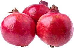 Three Ripe Pomegranates Stock Images