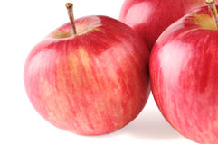 Three ripe red apple Stock Image