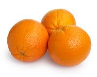 Three ripe round oranges Stock Photography